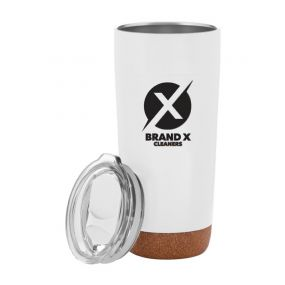 20 ounce personalized cork base tumbler