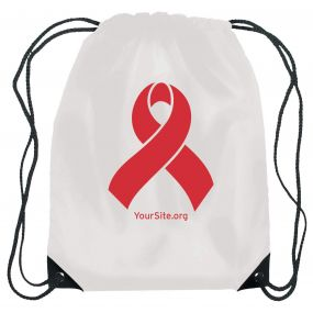 World AIDS Day Ribbon Drawstring Bag