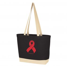 World AIDS Day Ribbon Cotton Canvas Tote Bag