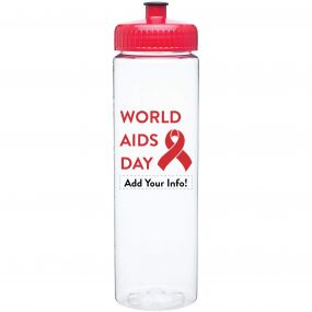 World AIDS Day Bottle - Plastic