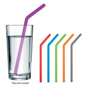 Bent Silicone Reusable Straw