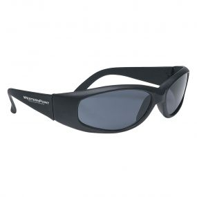 black sunglasses with imprint on left side of sunglasses saying westernpoint hotels and resorts