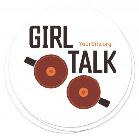 Girl Talk Breast Cancer Awareness Sticker