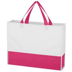 Custom Pink Dual Color Gusset Tote Bag