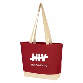 End HIV Cotton Canvas Tote Bag