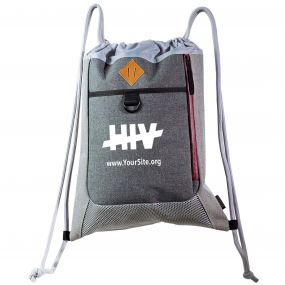 End HIV Premium Drawstring Bag