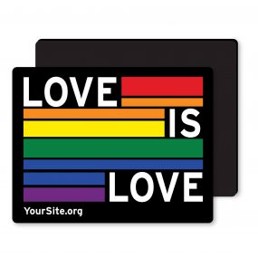 Gay Pride Love Is Love Magnet