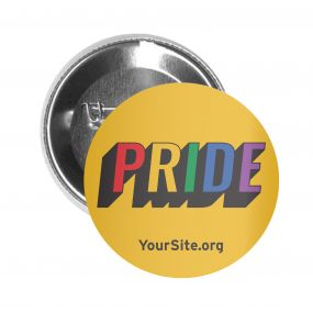 Gay Pride Retro Button Pin