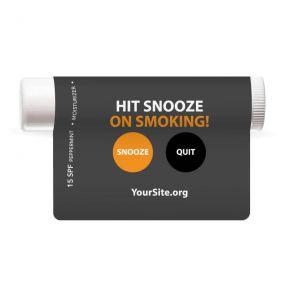 hit snooze on smoking lip balm