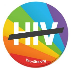 End HIV Rainbow Sticker