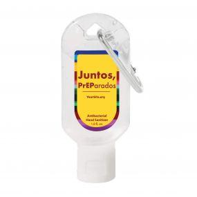 Juntos PrEParados Hand Sanitizer Carabiner 1.8 oz
