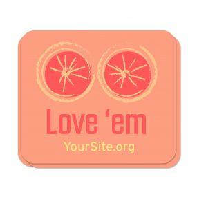 Love 'Em Breast Cancer Awareness Sticker