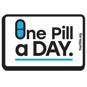 One Pill A Day Sticker