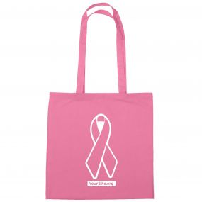 Pink Ribbon Breast Cancer Awareness Cotton Tote Bag