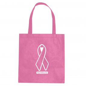 Pink Ribbon Breast Cancer Awareness Non-Woven Tote Bag