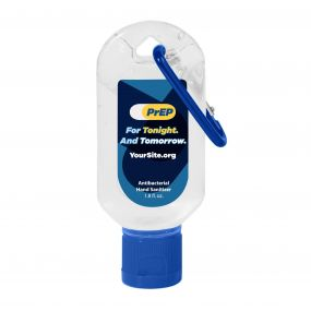 PrEP Tonight Hand Sanitizer Carabiner - 1.8 oz