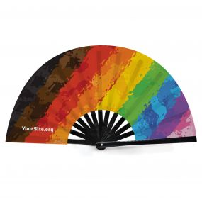 Pride Inclusive Painted Snap Fan