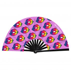Pride Kiss Snap Fan