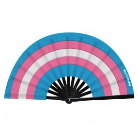 Trans Flag Snap Fan