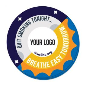 Breathe Easy Tomorrow Sticker