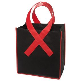 Red Ribbon Grocery Tote Bag