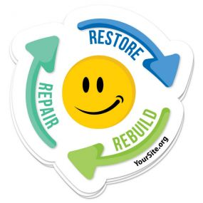 Repair Restore Rebuild Sticker