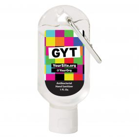Hand Sanitizer Carabiner - 1 oz - Get Yourself Tested