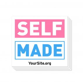 Self Made Transgender Awareness Sticker - White