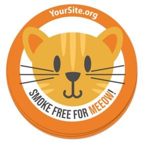Smoke Free for Meeow Sticker