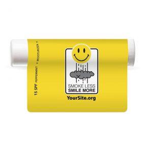 smile more smoke less lip balm