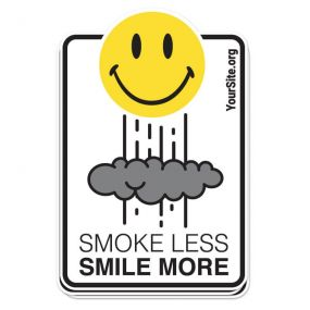 Smoke Less Smile More Sticker