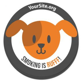 Smoking Is Rufff Sticker