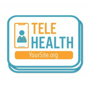TeleHealth Sticker