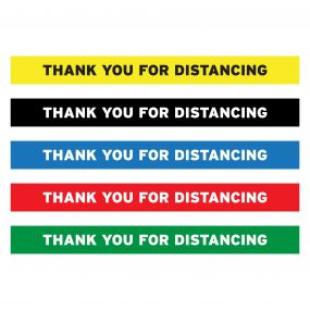 "Thank You For Distancing Floor Decal - 24"" X 4"""