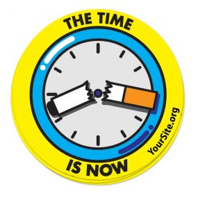 The Time Is Now Sticker