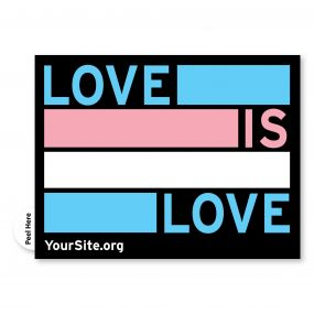 Trans Love Is Love Sticker