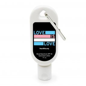 Trans Love Is Love Sunscreen Carabiner - 1 oz