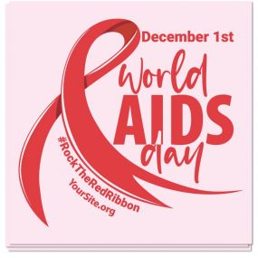 World AIDS Day Ribbon Sticker