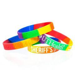 half inch rainbow wristband