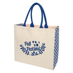 personalized designed cotton tote bag with carrying handles