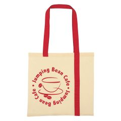 personalized cotton tote bag with carrying handles