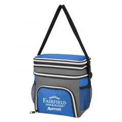 lunch bag with carrying handle and multiple compartments