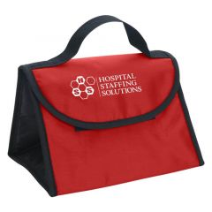 lunch bag with handle and velcro flap