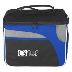 lunch bag with main compartment, adjustable strap and side mesh pocket