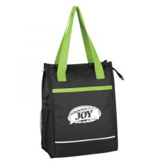 lunch bag with colored handle