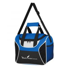 mesh cooler bag with carrying handle and adjustable strap