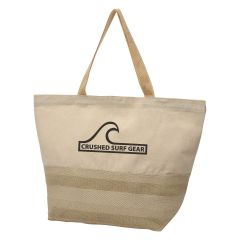 personalized cotton tote bag with bottom pattern design and carrying handles