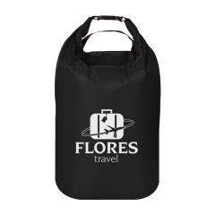 black dry bag backpack with carrying handle and clip