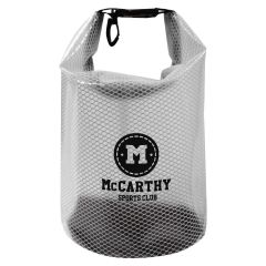 mesh dry bag with clip and buckle to close