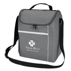 personalized lunch bag with adjustable strap and side mesh pocket